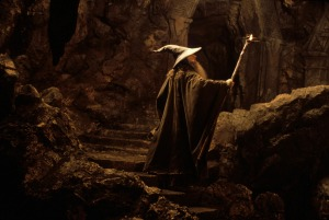 Sir Ian McKellan in a scene from THE LORD OF THE RINGS: THE FELLOWSHIP OF THE RING, 2001.
