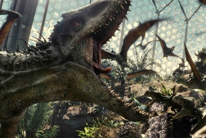 JURASSIC WORLD - 2015 FILM STILL - Pictured: The Indominus rex dominates all creatures in her path - Photo Credit: Universal Pictures   © 2014 Universal Studios and Amblin Entertainment, Inc. ALL RIGHTS RESERVED.