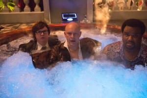 Left to right: Clark Duke is Jacob, Rob Corddry is Lou, and Craig Robinson is Nick in HOT TUB TIME MACHINE 2, from Paramount Pictures and Metro-Goldwyn-Mayer Pictures.