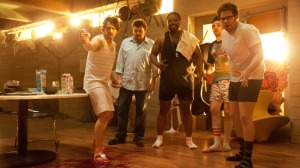 "L-r, James Franco, Danny McBride, Craig Robinson, Jay Baruchel and Seth Rogen in Columbia Pictures' ""This Is The End,"" also starring Jonah Hill."